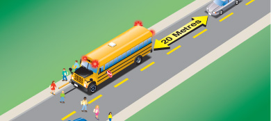 Avoid getting a traffic ticket by knowing the rules around stopping for school buses